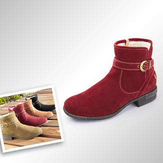 Warm Lined Ankle Boots Just £35 - Other colours available >