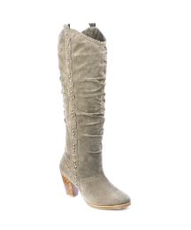 Viva La Diva Studded High Leg Boots EEE