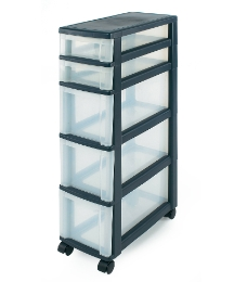 Super Slim 5 Drawer Unit