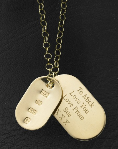 9ct gold personalised dog tag pendant simply be 9ct gold personalised dog tag pendant aloadofball Choice Image