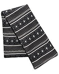 Kayak Long Length Fairisle Knitted Scarf