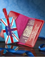Personalised Union Flag Passport Set
