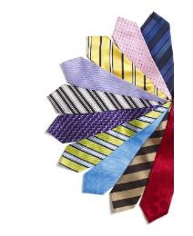 Kensington Contrast Stripe Silk Tie XL