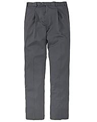 &City Plain 1 Pleat Trousers 38in Leg
