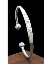 Sterling Silver Solid Torque Bangle