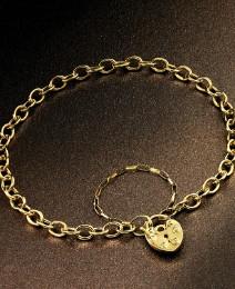 9 Carat Gold Padlock Bracelet