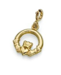 9ct Gold Claddagh Charm
