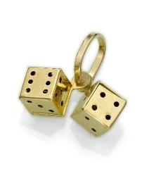 9ct Gold Dice Charm