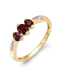 9 Carat Gold Birthstone Ring