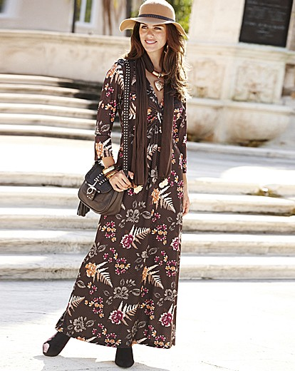 1a65b5b891 Joanna Hope Floral Print Jersey Maxi Dress