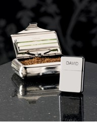 Tobacco Tin and Personalised Lighter