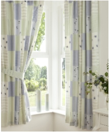 Maisie Lined Curtains & Tie Backs