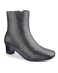 Leather Ankle Boots EEE Fit