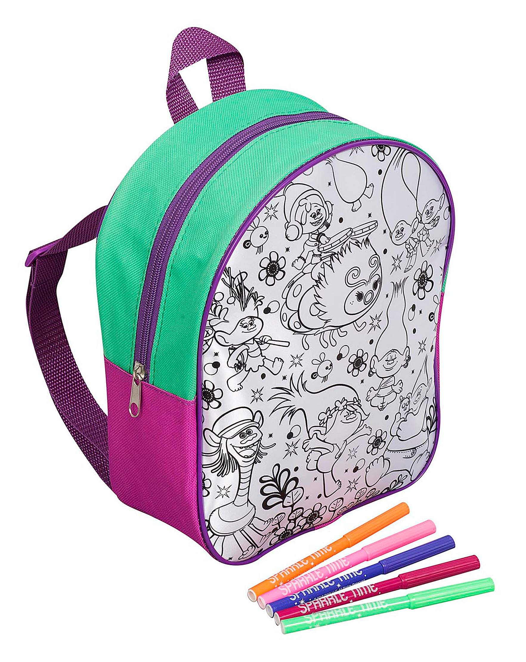 679adf9a85999 Trolls Colour Your Own Backpack