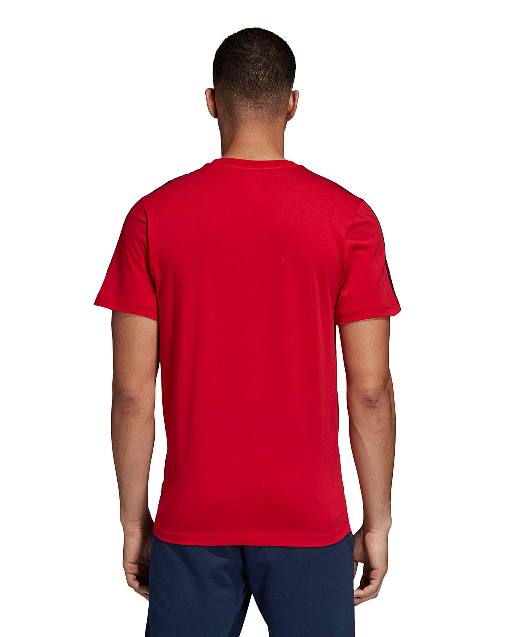 sale retailer 4a455 457aa MUFC adidas 3 Stripe Tee   Jacamo