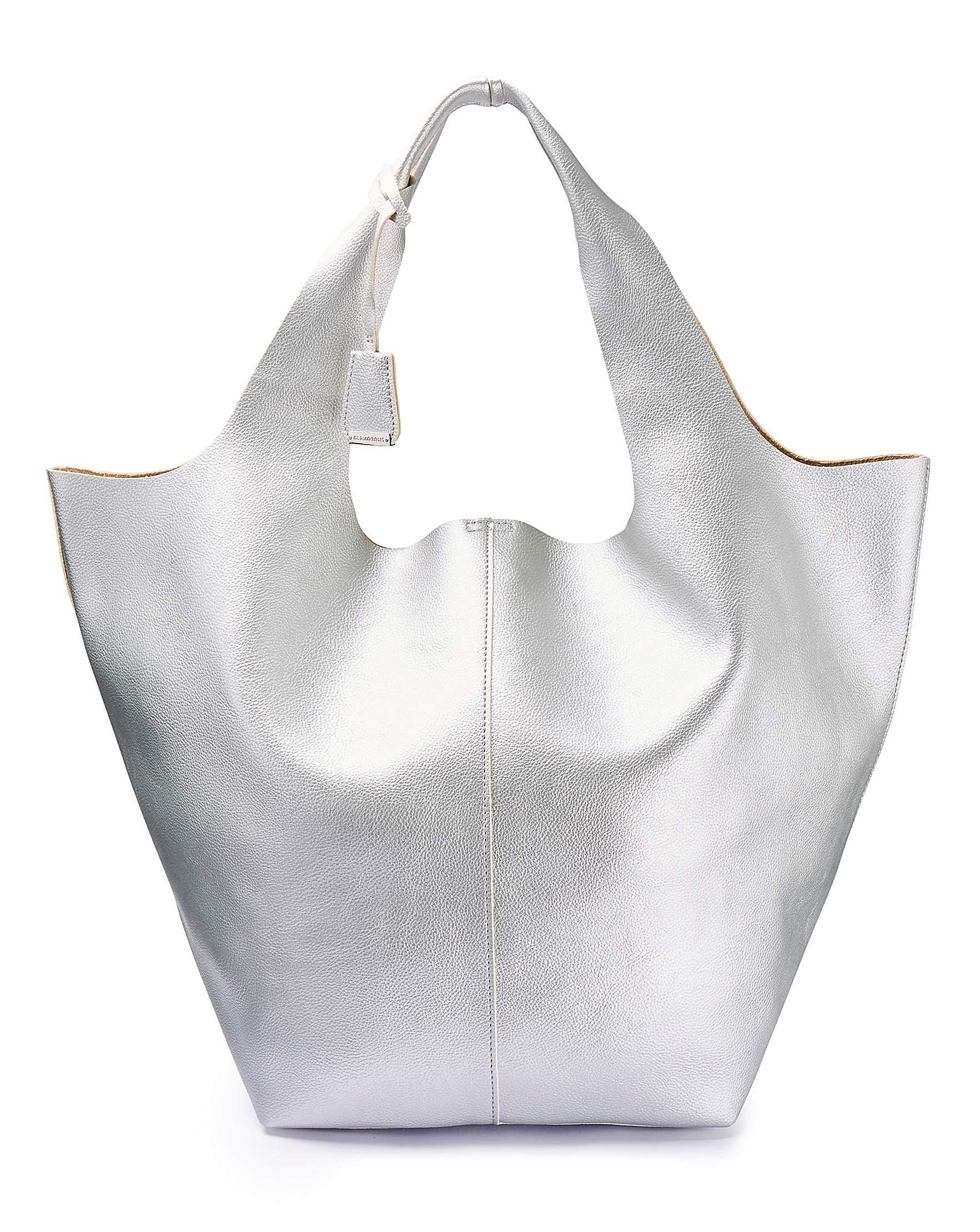 918ee1b0f3262 Metallic Silver Tote Bag