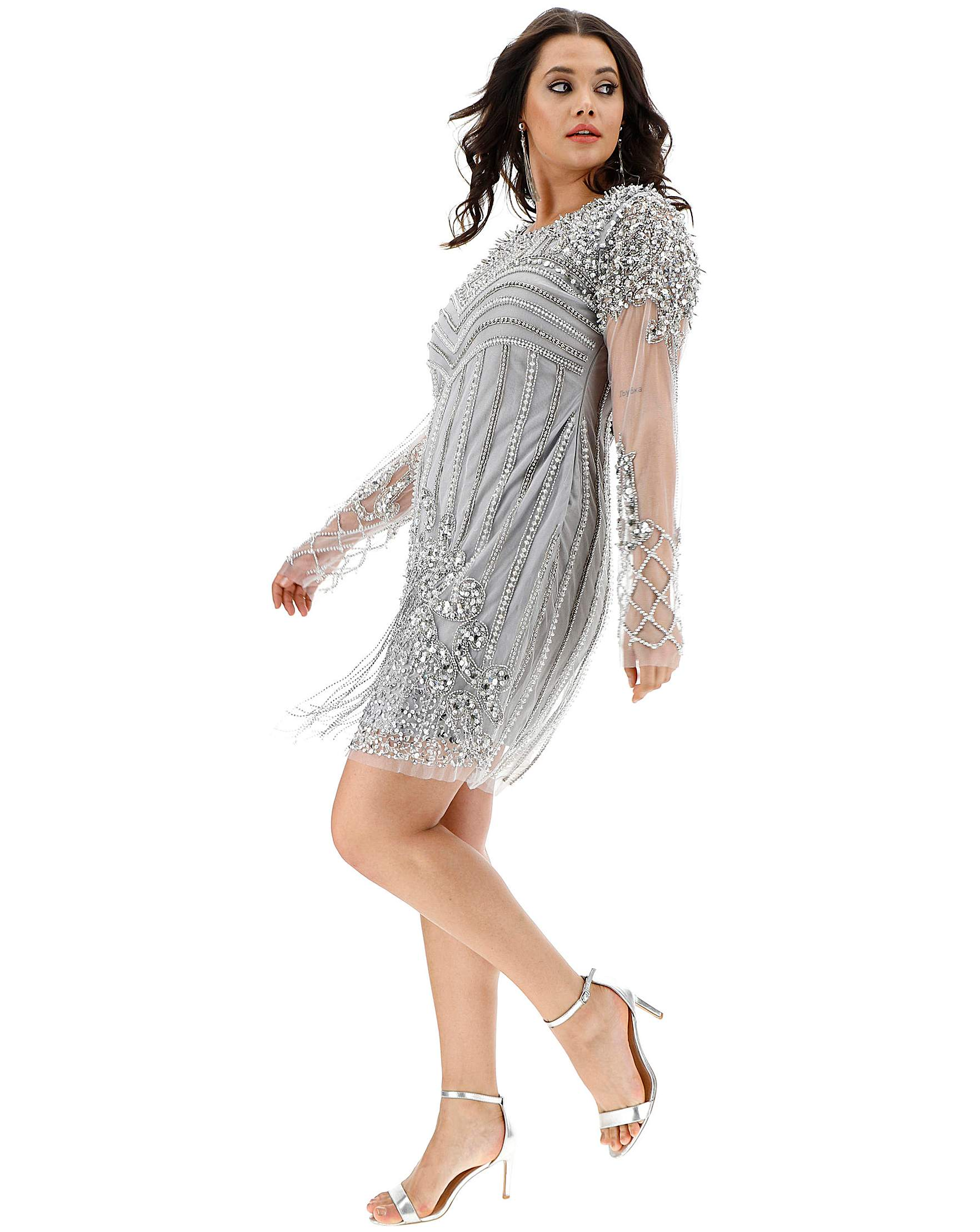 2f466e2658 A Star Is Born Embellished Mini Dress | Simply Be