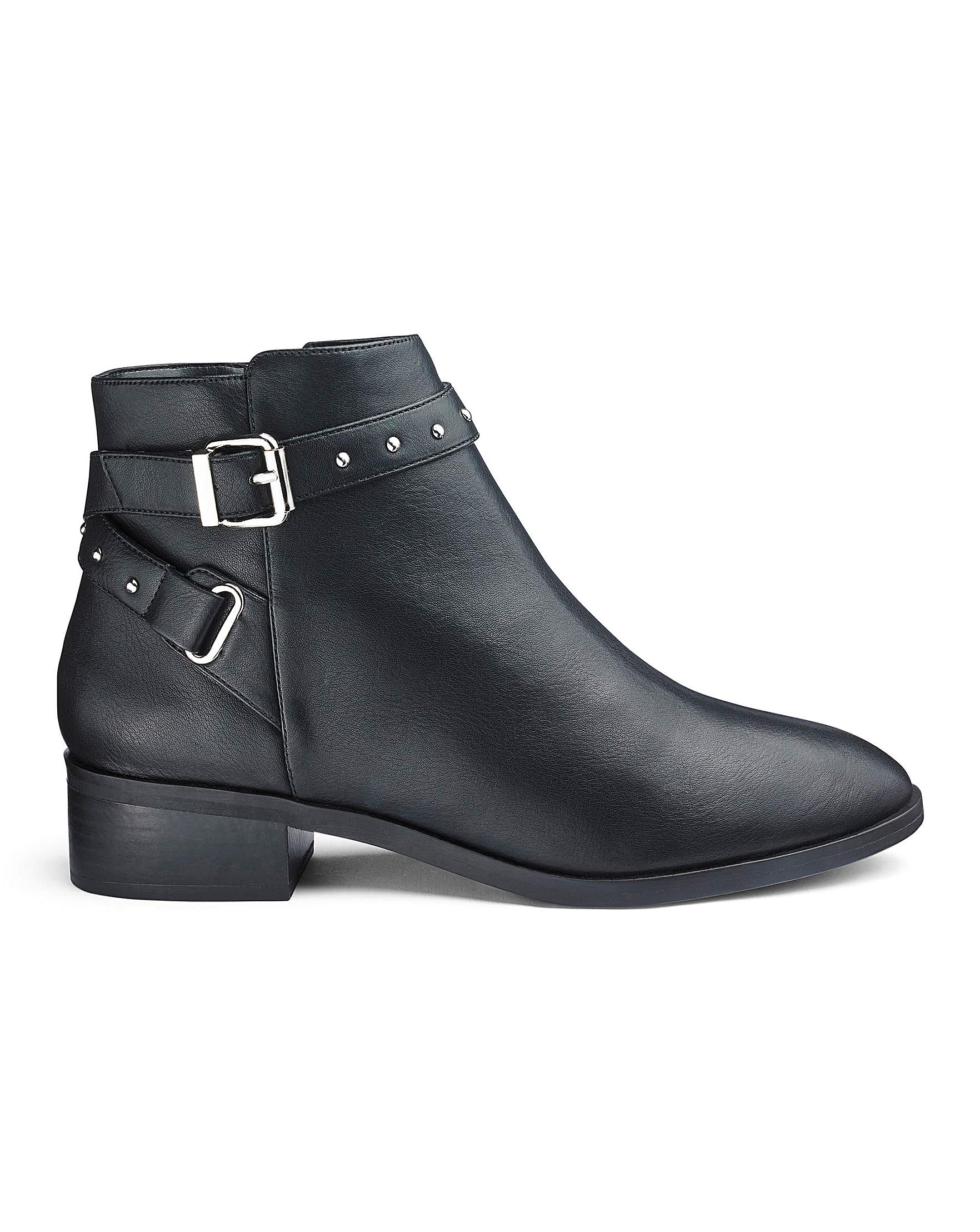10f28dd0739 Eira Buckle Detail Boots Wide E Fit