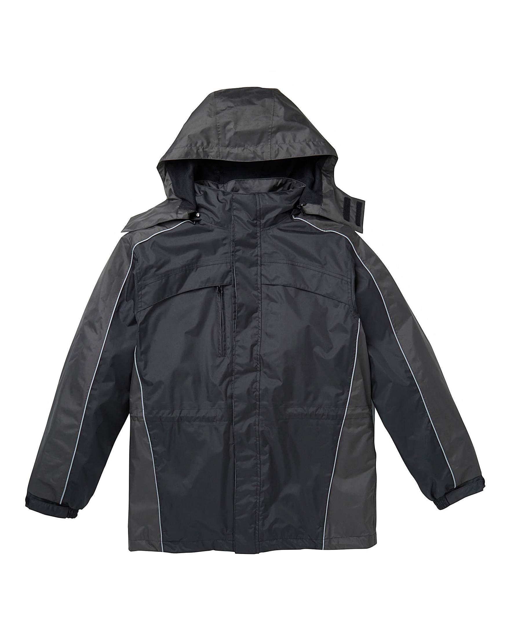 b8166d9f211 Premier Man Black 3 in 1 Jacket Regular