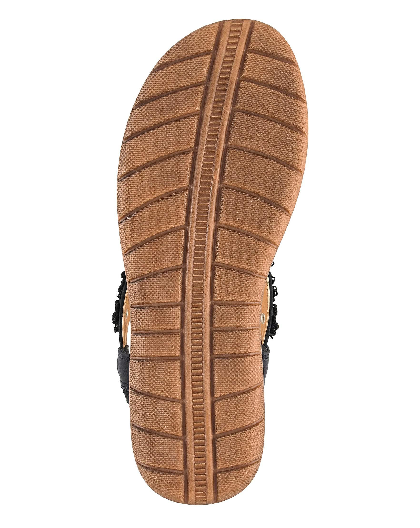 7bceb9198e6 Heavenly Feet Toe Post Sandals EEE Fit