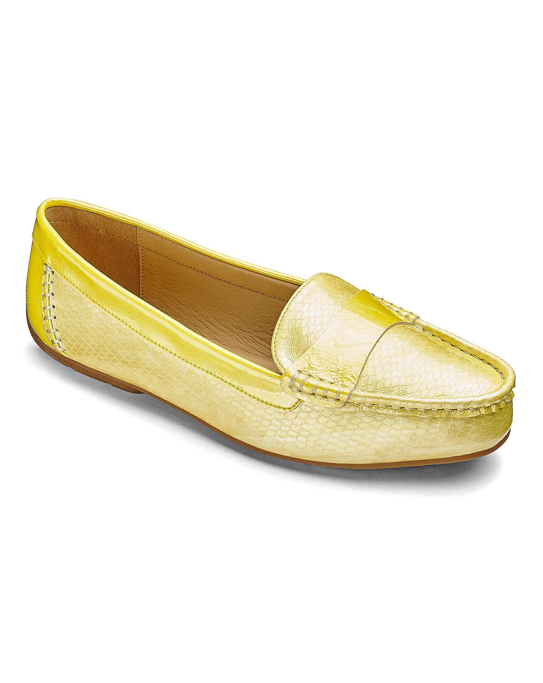 d5ce63fb04a Heavenly Soles Flexible Sole Slip On Shoes Wide E Fit