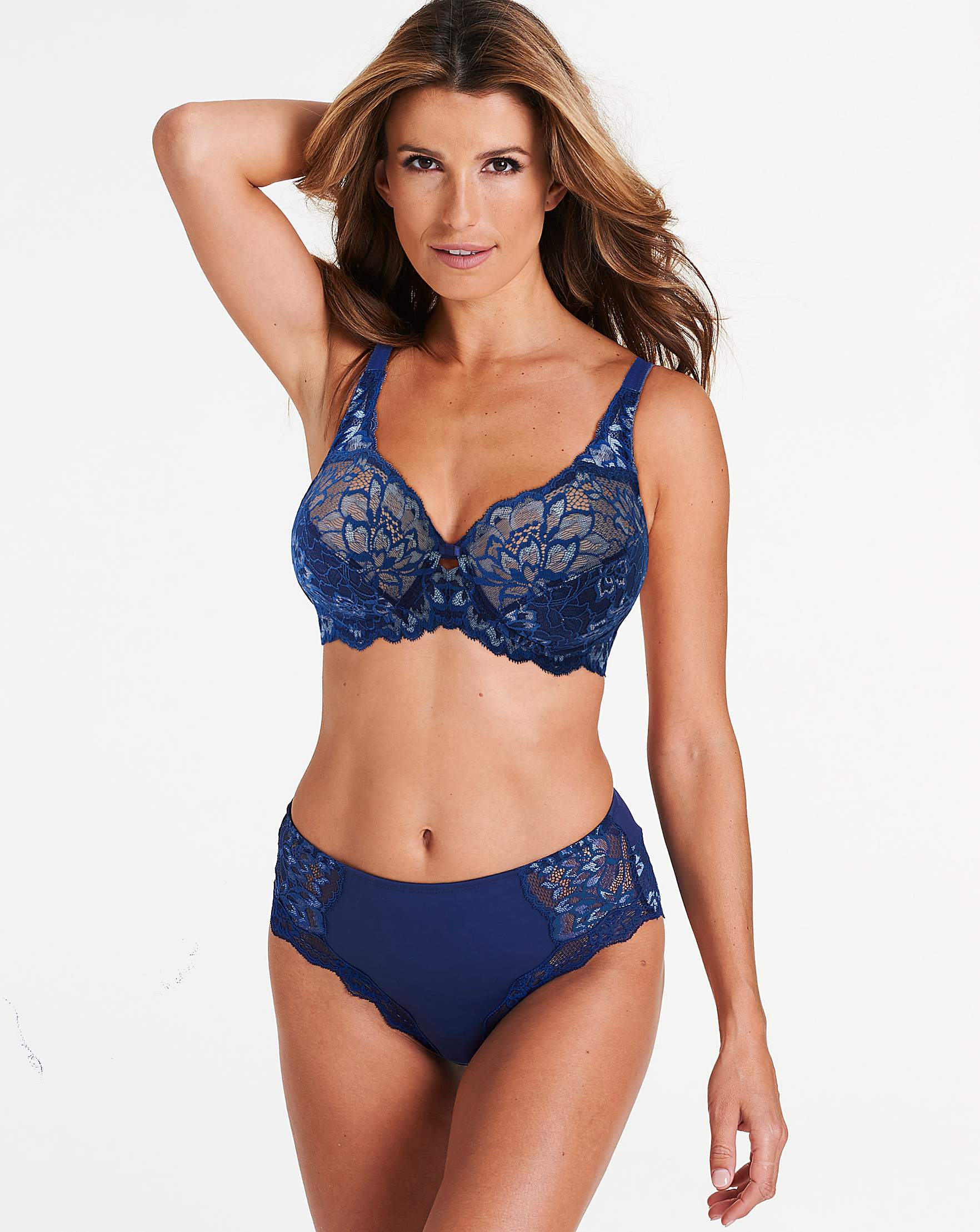 3522778be0 Triumph Amourette Charm Full Cup Wired Dark Blue Bra