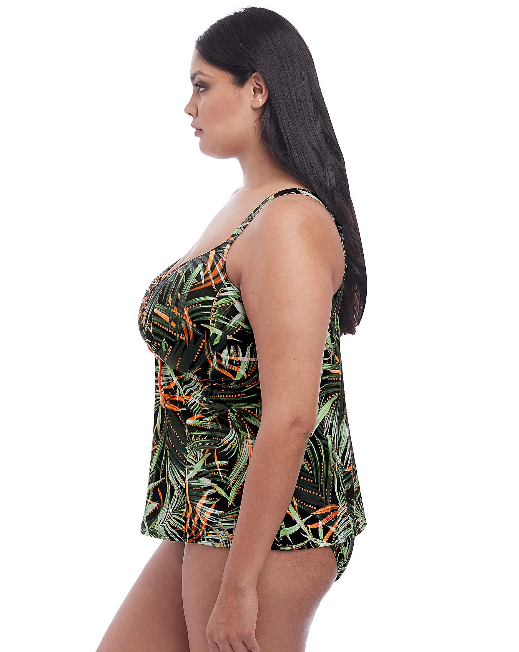 d34719e5497 Elomi Amazonia Moulded Tankini Top | Simply Be