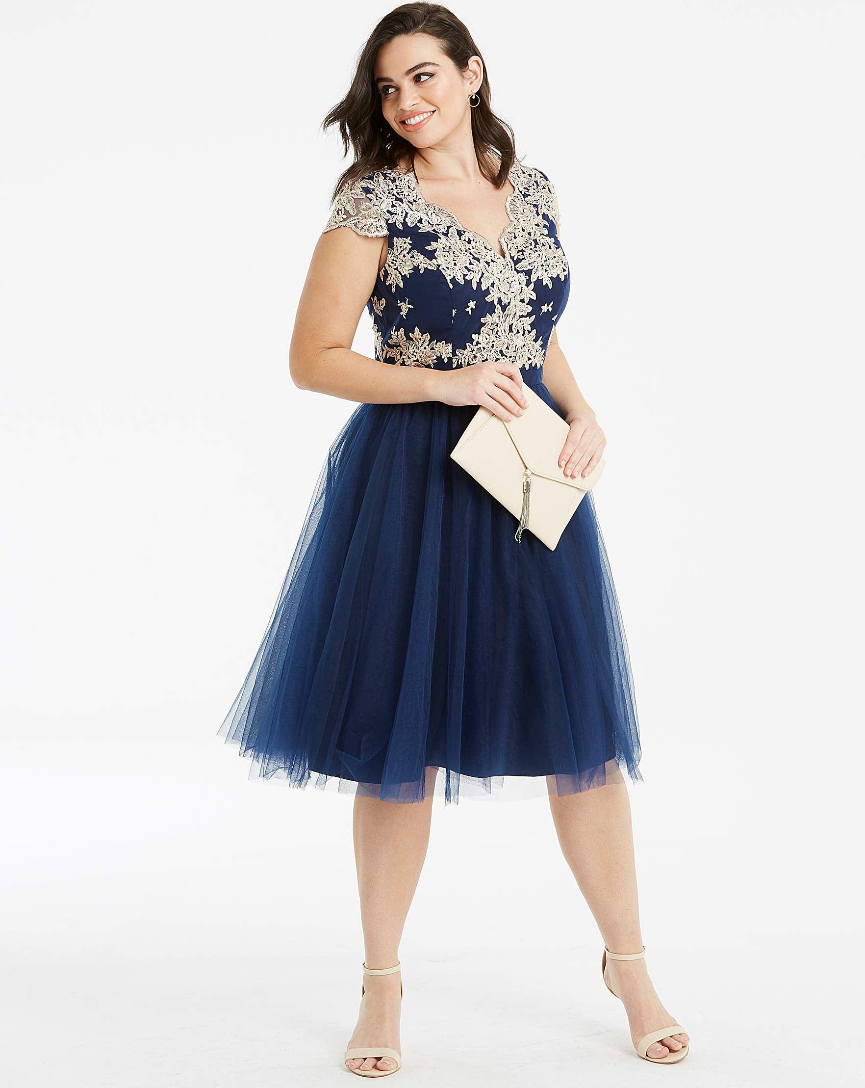 9d1bbad3d4f6b Chi Chi London Fit & Flare Lace Dress | Simply Be