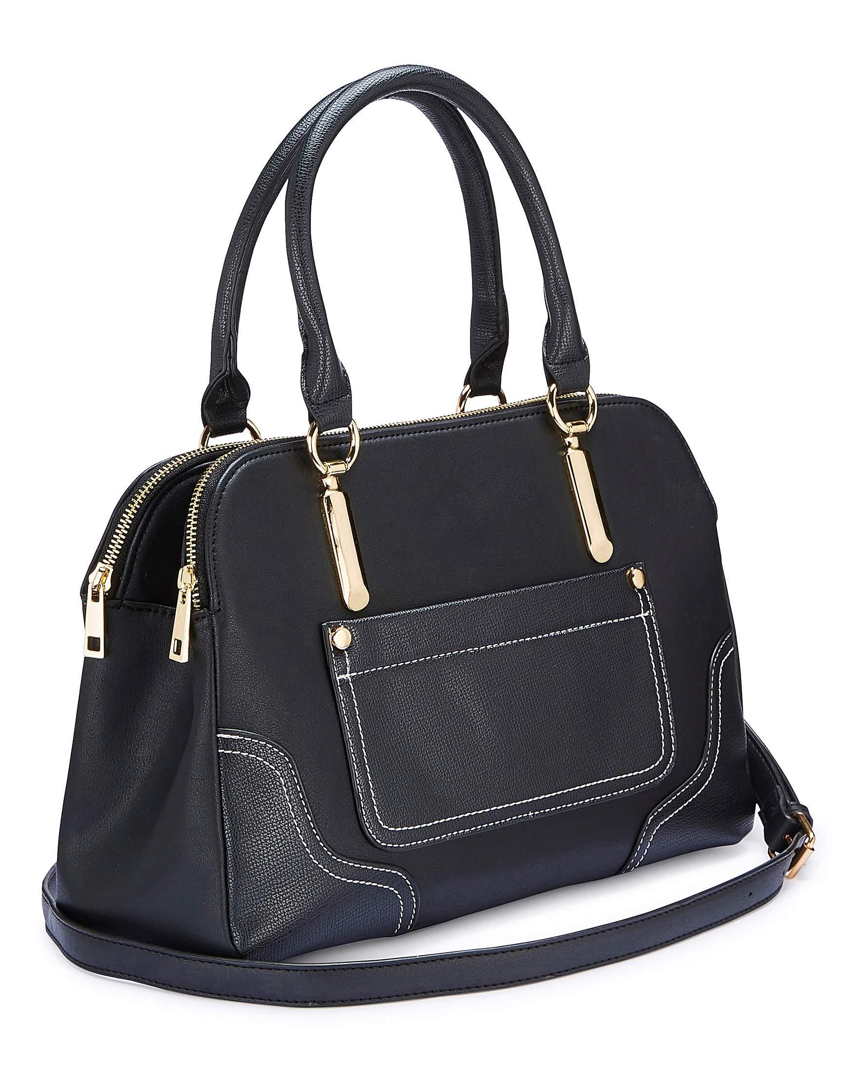 Black Multi Compartment Tote Bag  82d68ca77651f