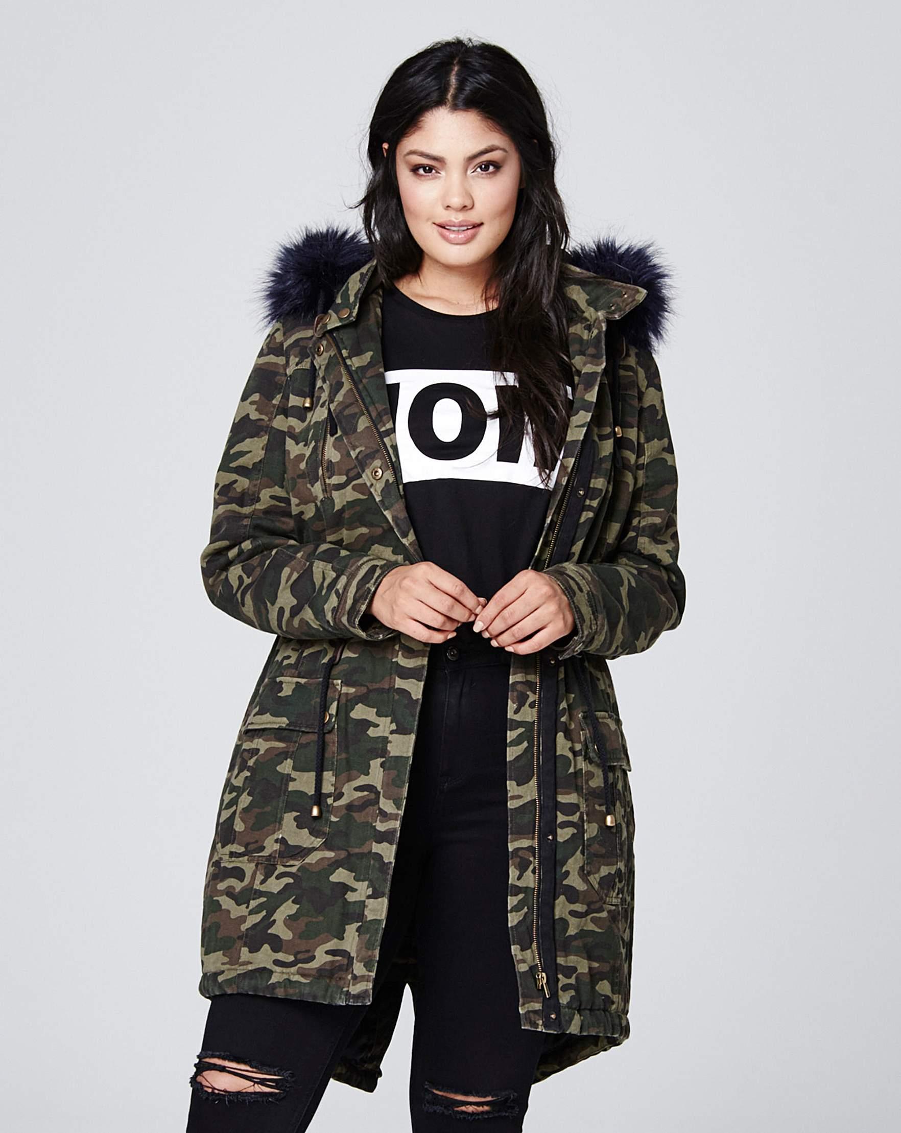 7255d6e74dc5 Camouflage Cotton Parka
