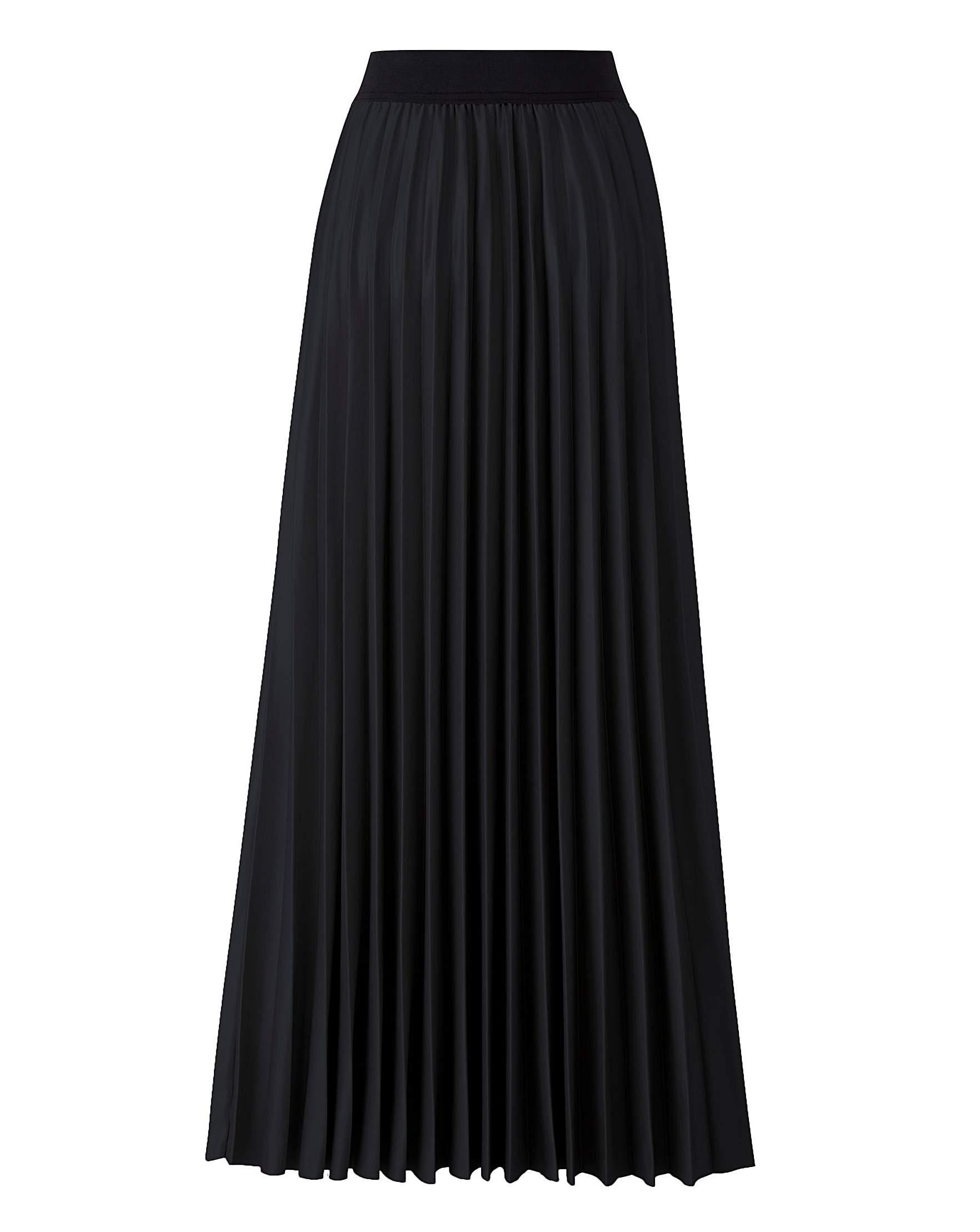 6e8248cbcad Wet Look Sunray Pleat Maxi Skirt