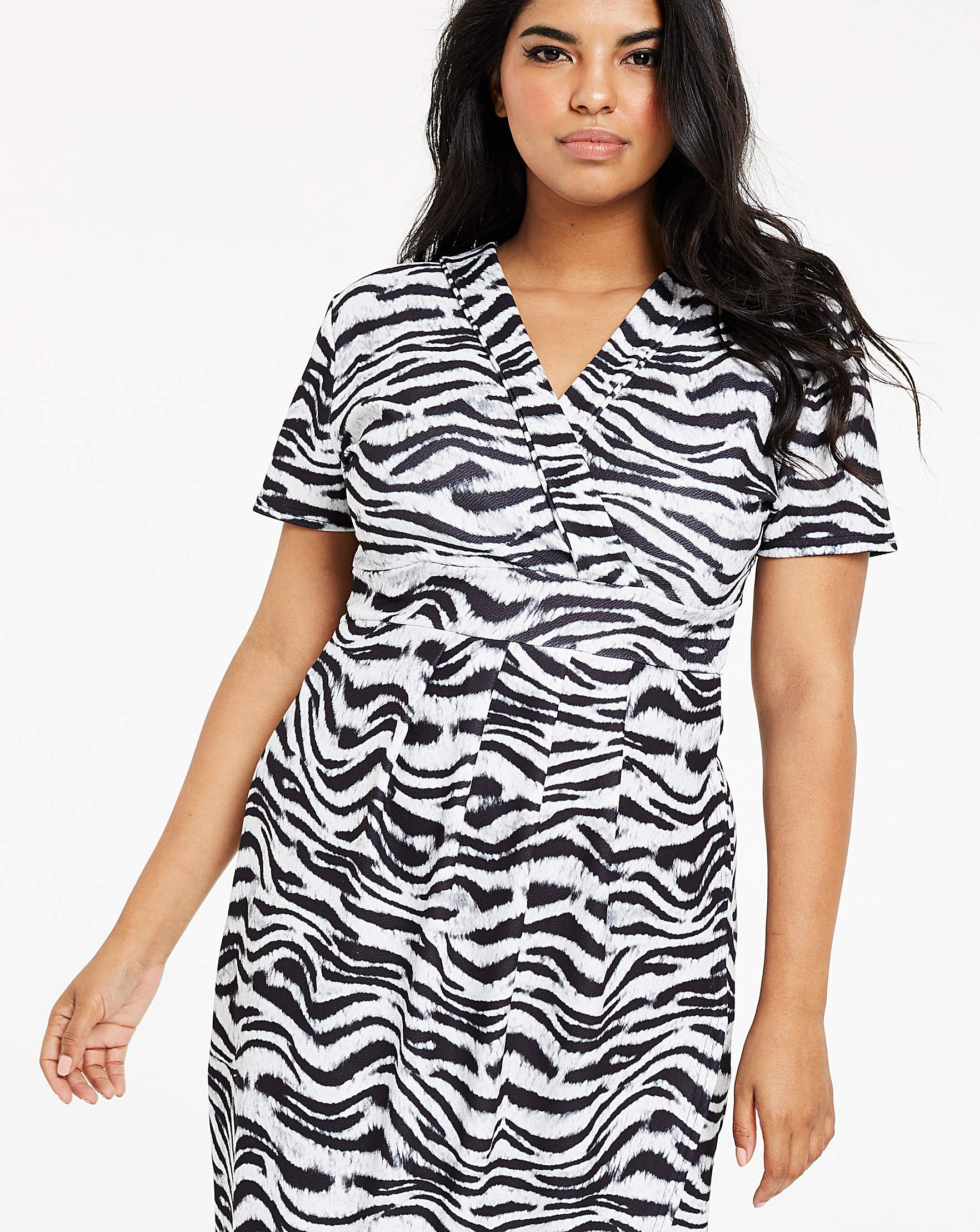 9b46637284 Quiz Curve Zebra Print Wrap Dress