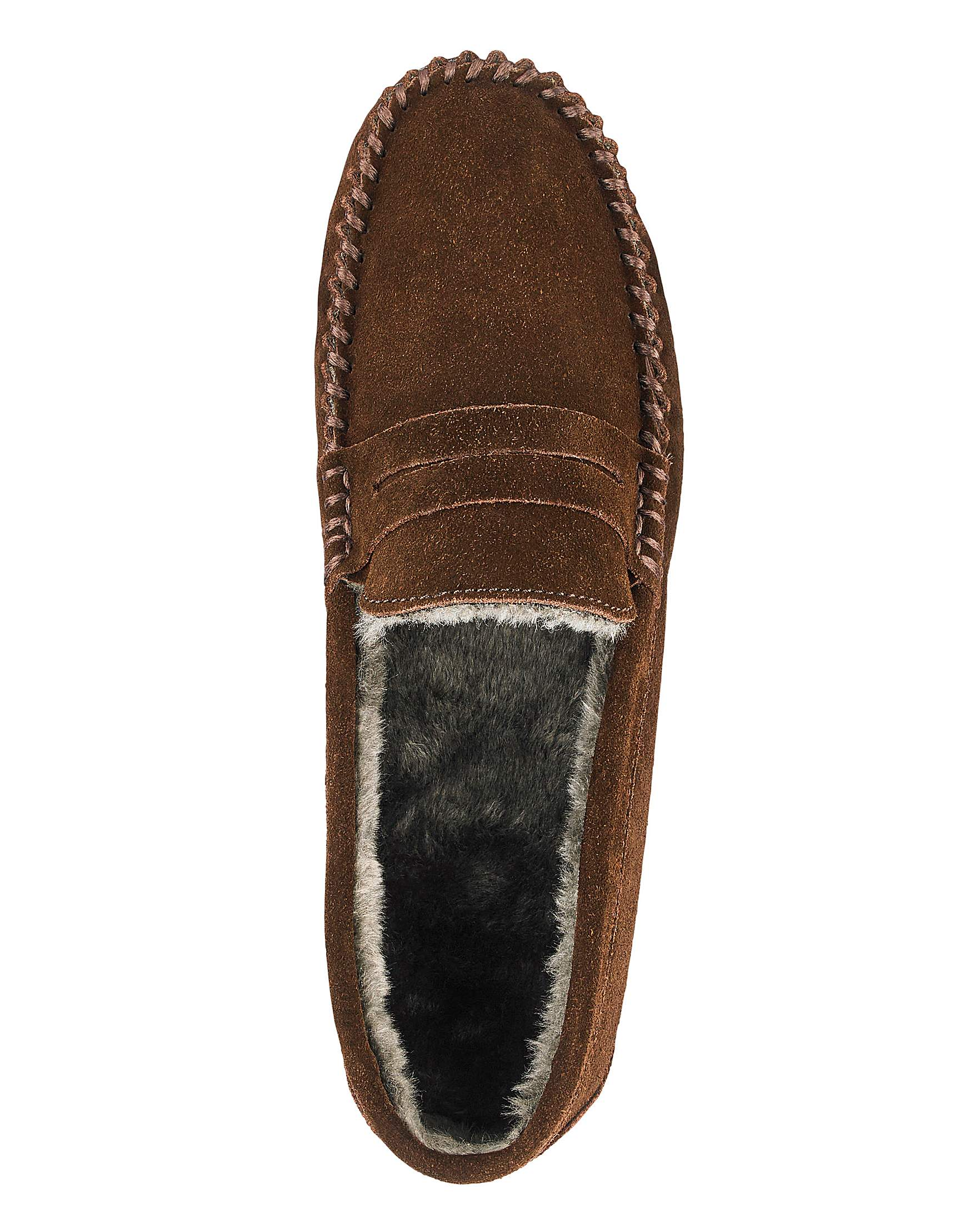 a278d3284 Suede Saddle Loafer Slippers | J D Williams