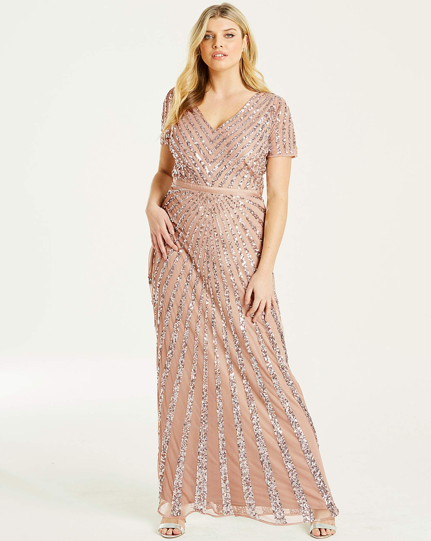 bfa4c4d4ed4 Maya Curve Sequin Maxi Dress
