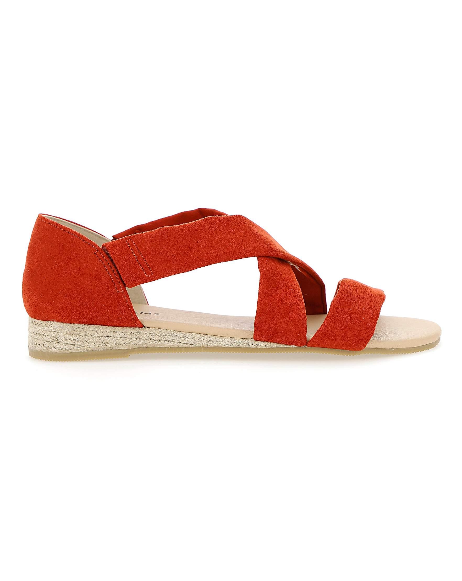 8061d019018 Soft Strap Espadrille Sandals EEE Fit