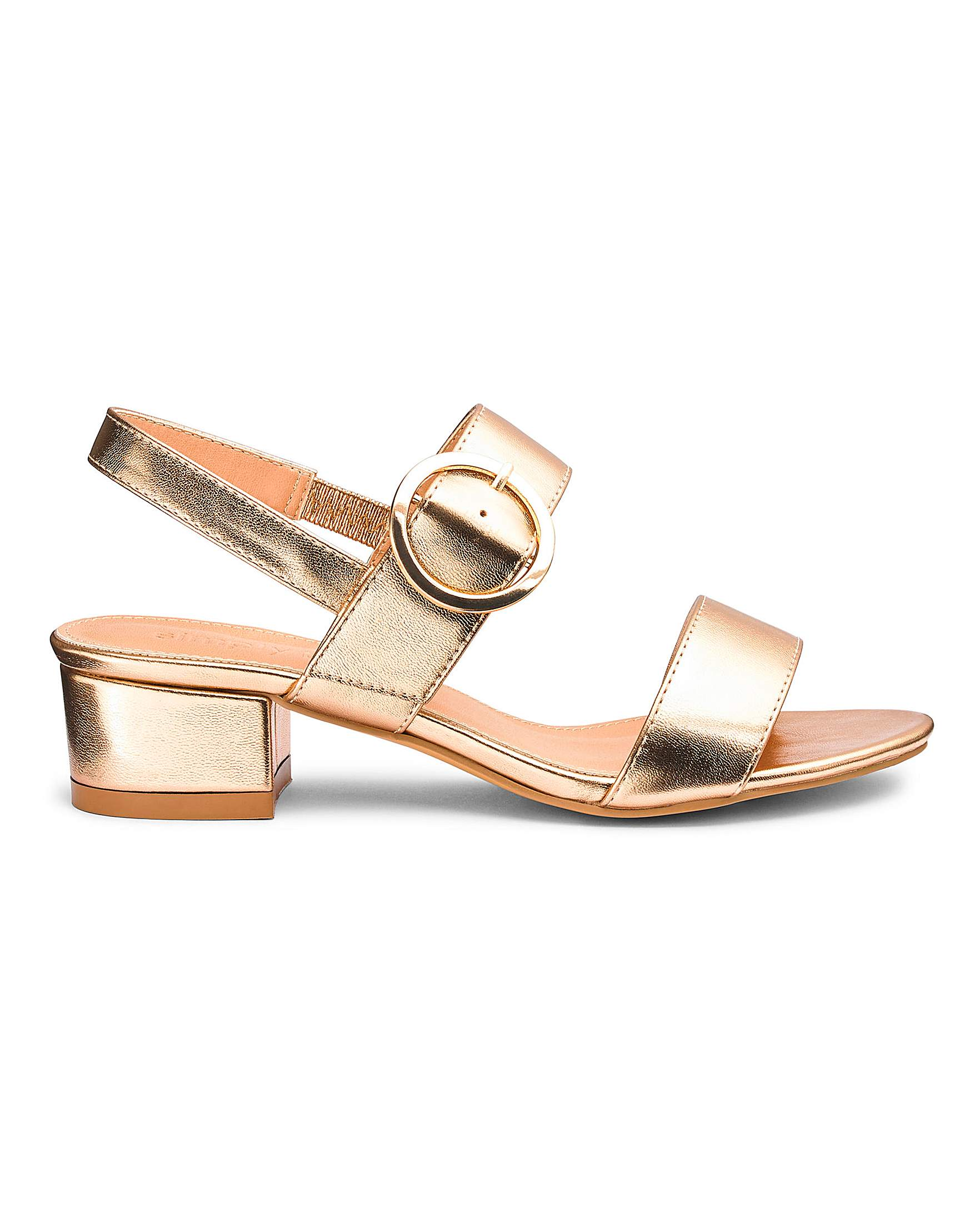 e08f3a94d4 Isabel Low Block Heel Sandal Extra Wide | Simply Be