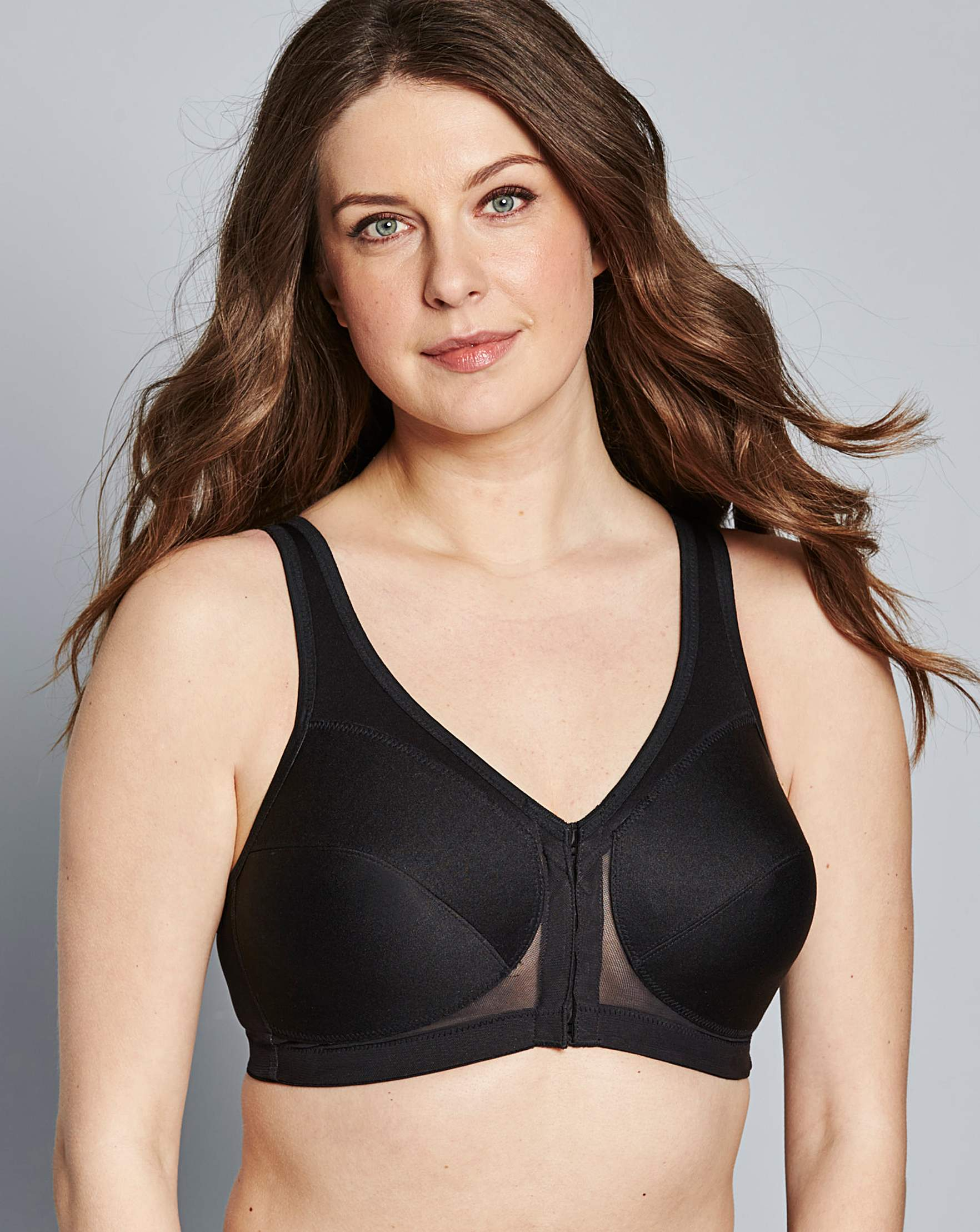 914c62a18a1a0 Glamorise Back Support Non Wired Black Bra