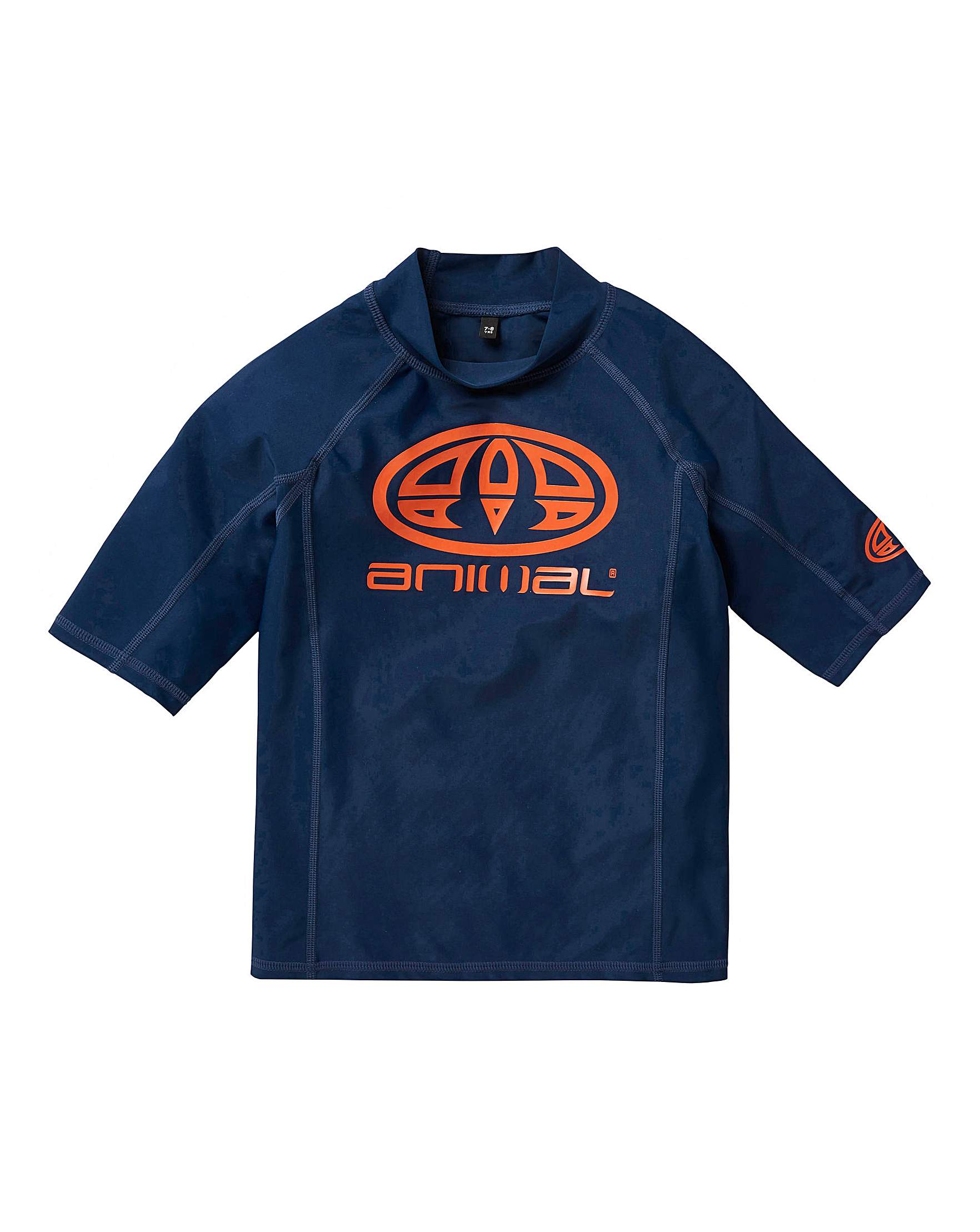 9a932205d2 Animal Hiltern Short Sleeve Rash Vest | Simply Be