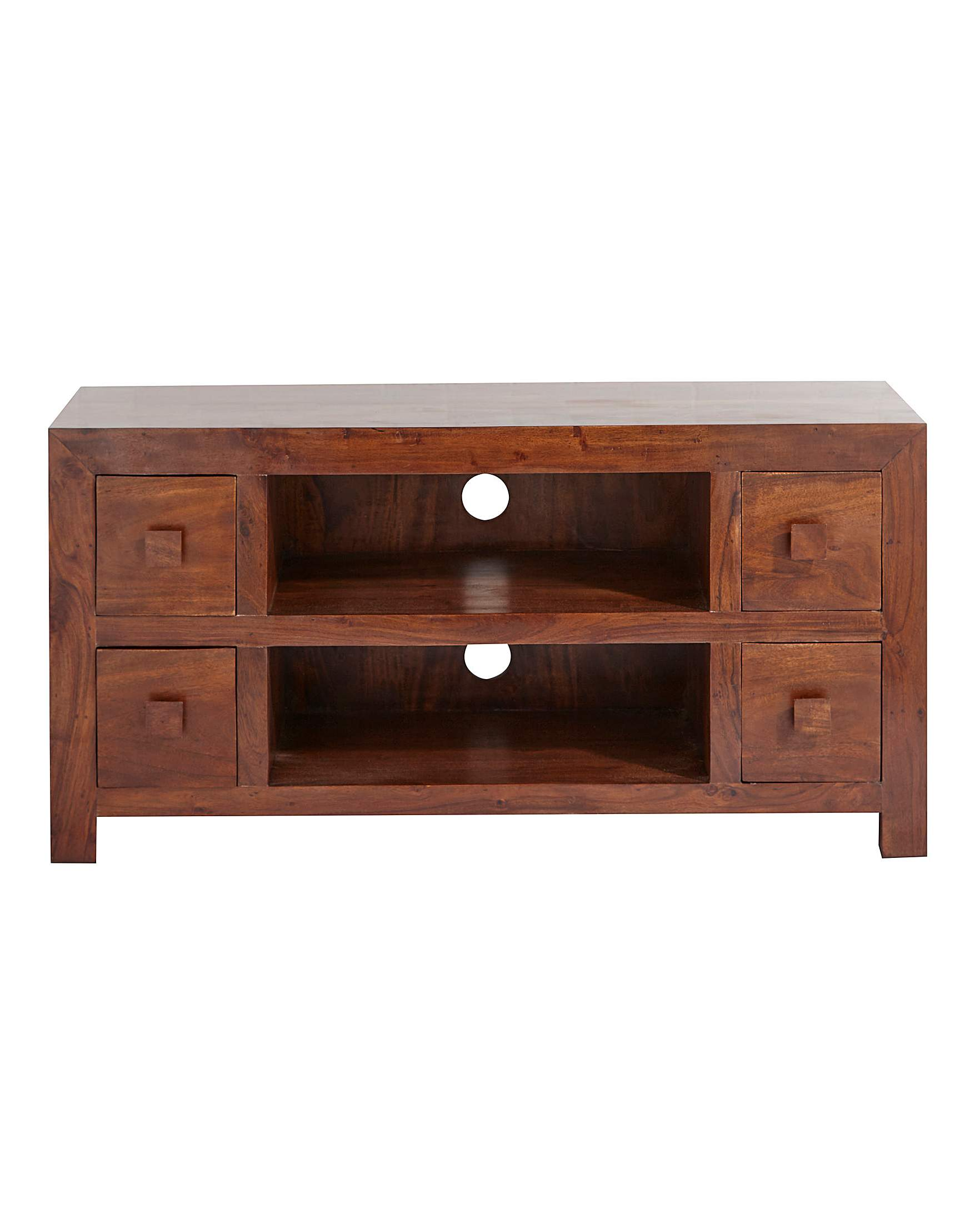 Java solid acacia wood wide tv unit jacamo