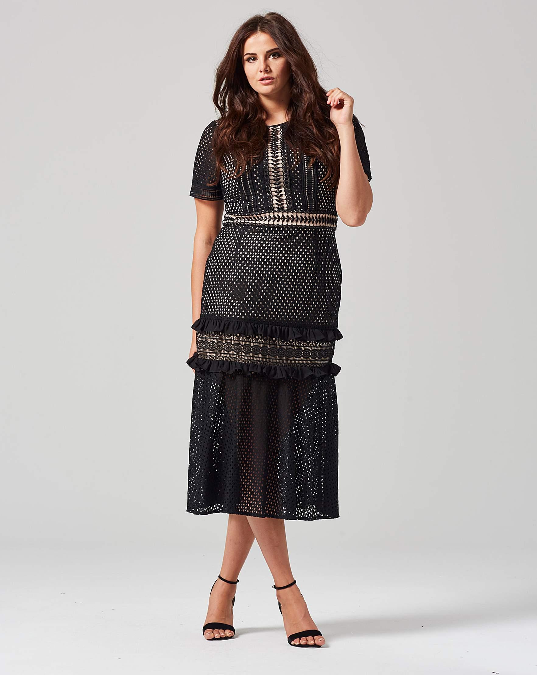 86e9e2c198a Truly You Lace Detail Dress | Simply Be