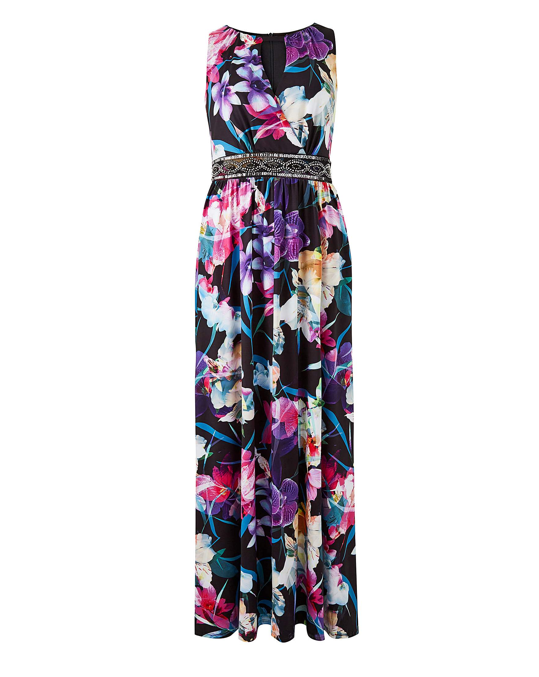 3be3661383 Joanna Hope Print Jewel Maxi Dress