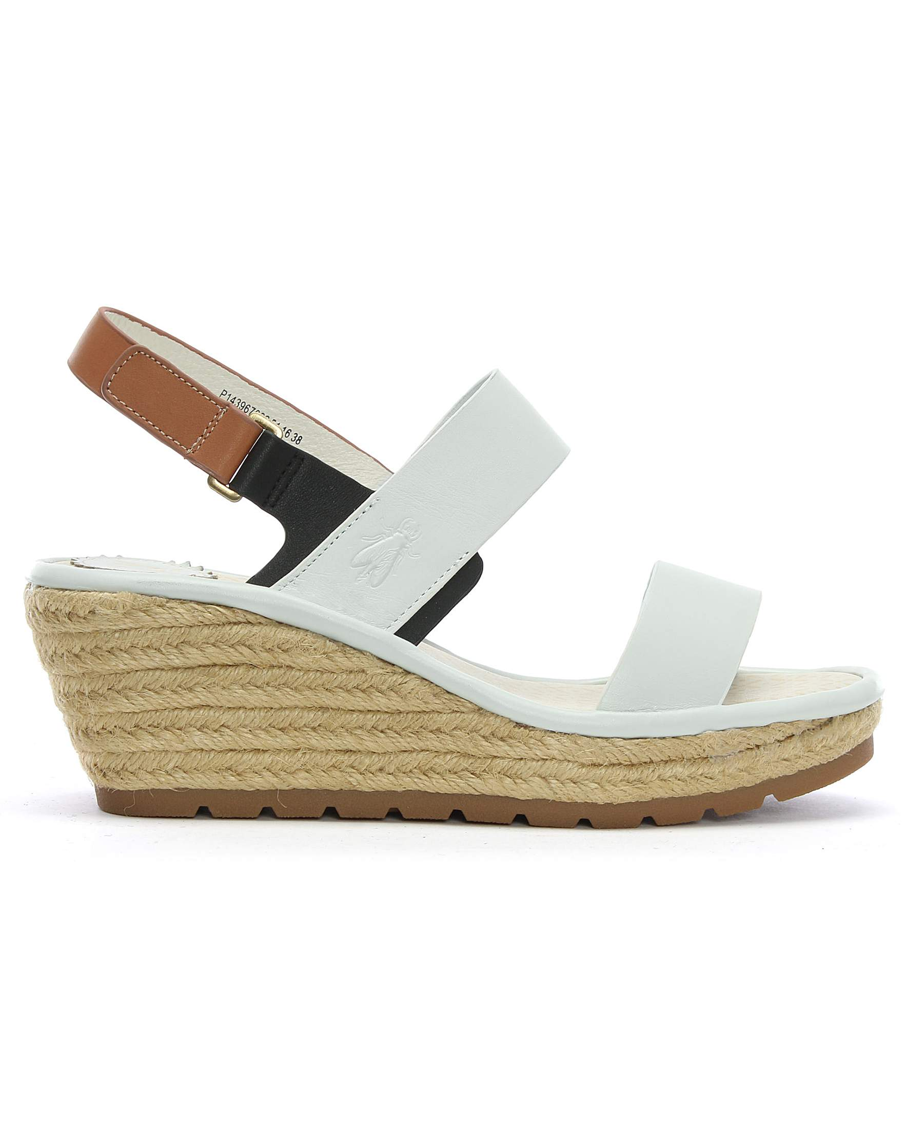 81f0614bcb8 Fly London Ekan Leather Two Strap Wedge Espadrille Sandals