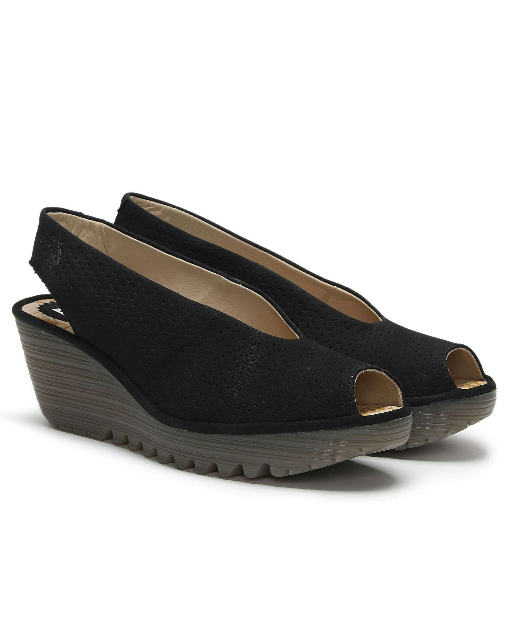 b818652f8db3e Fly London Yazu Sling Back Wedge Sandals | Simply Be
