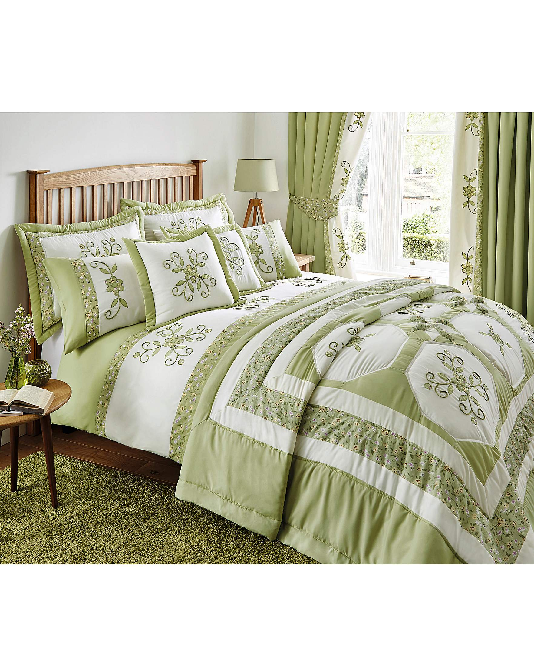 Willow puffball bedspread house of bath