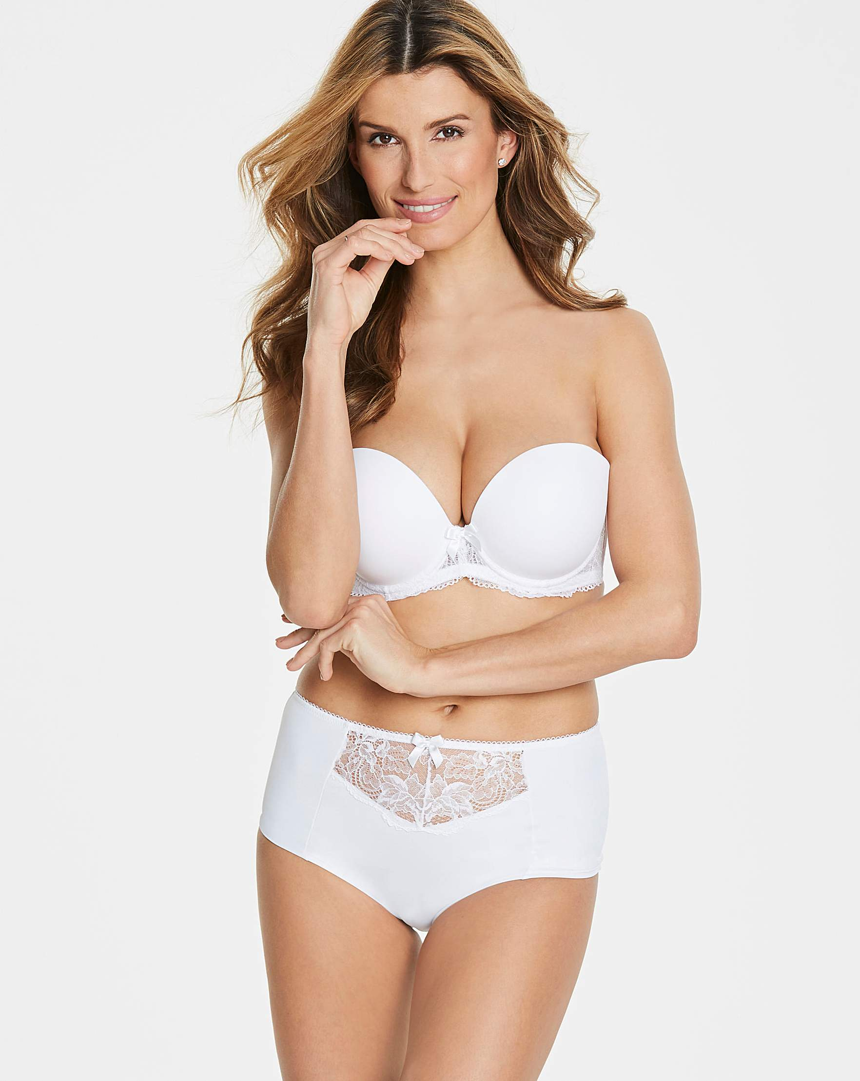 96701456a6a Pretty Secrets Ella Lace White Moulded Padded Wired Multiway Bra