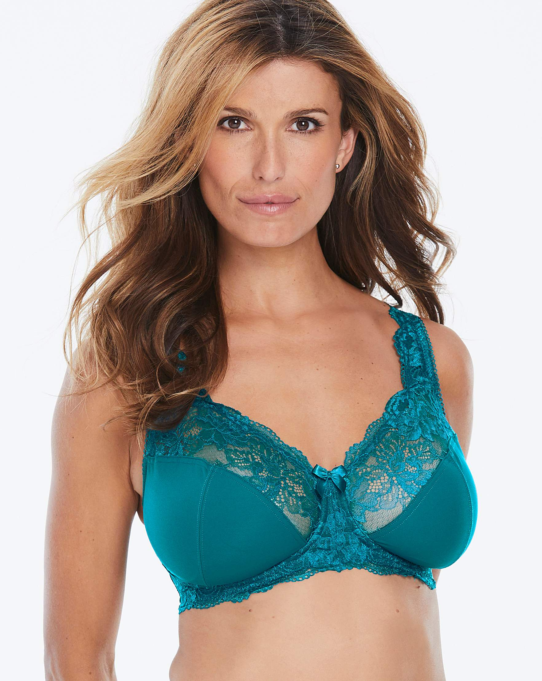 462c479a2d9 2Pack Ella Lace NonWired Teal Damson Bra