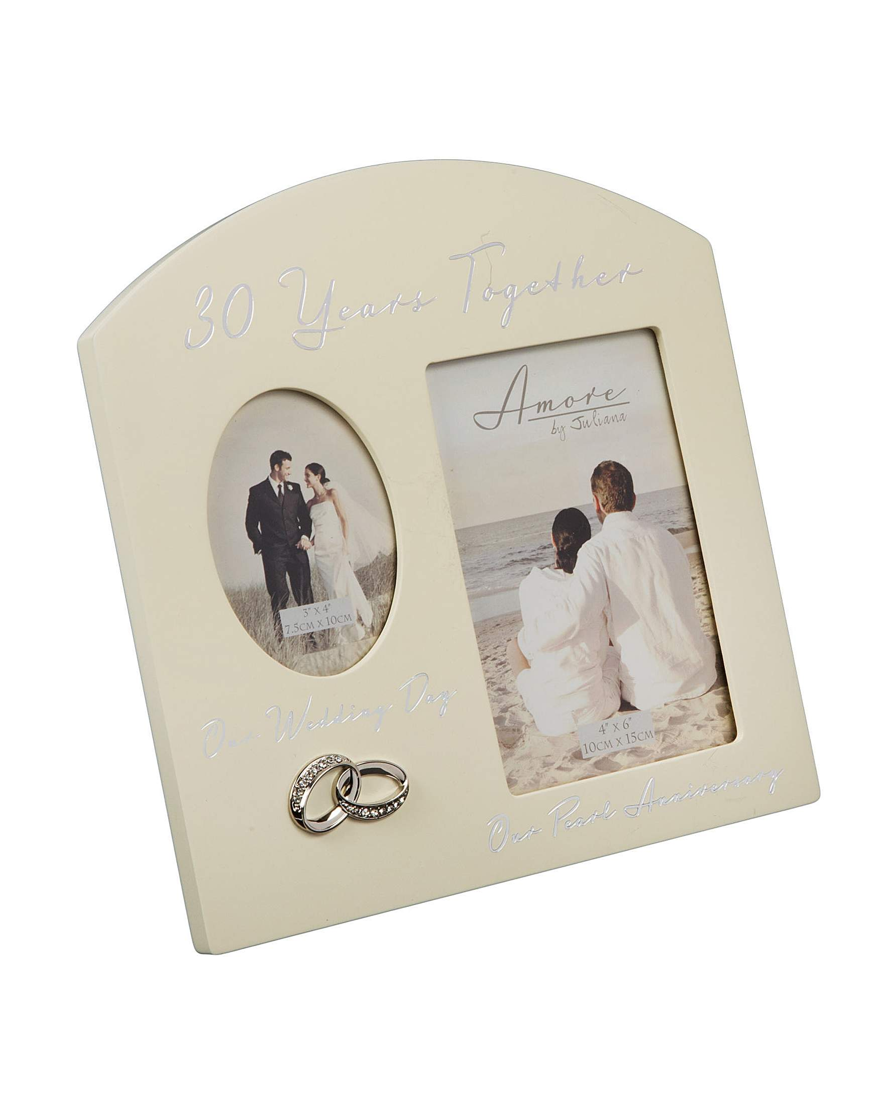 Amore Double Photo Frame 30 Anniversary | Home Beauty & Gift Shop