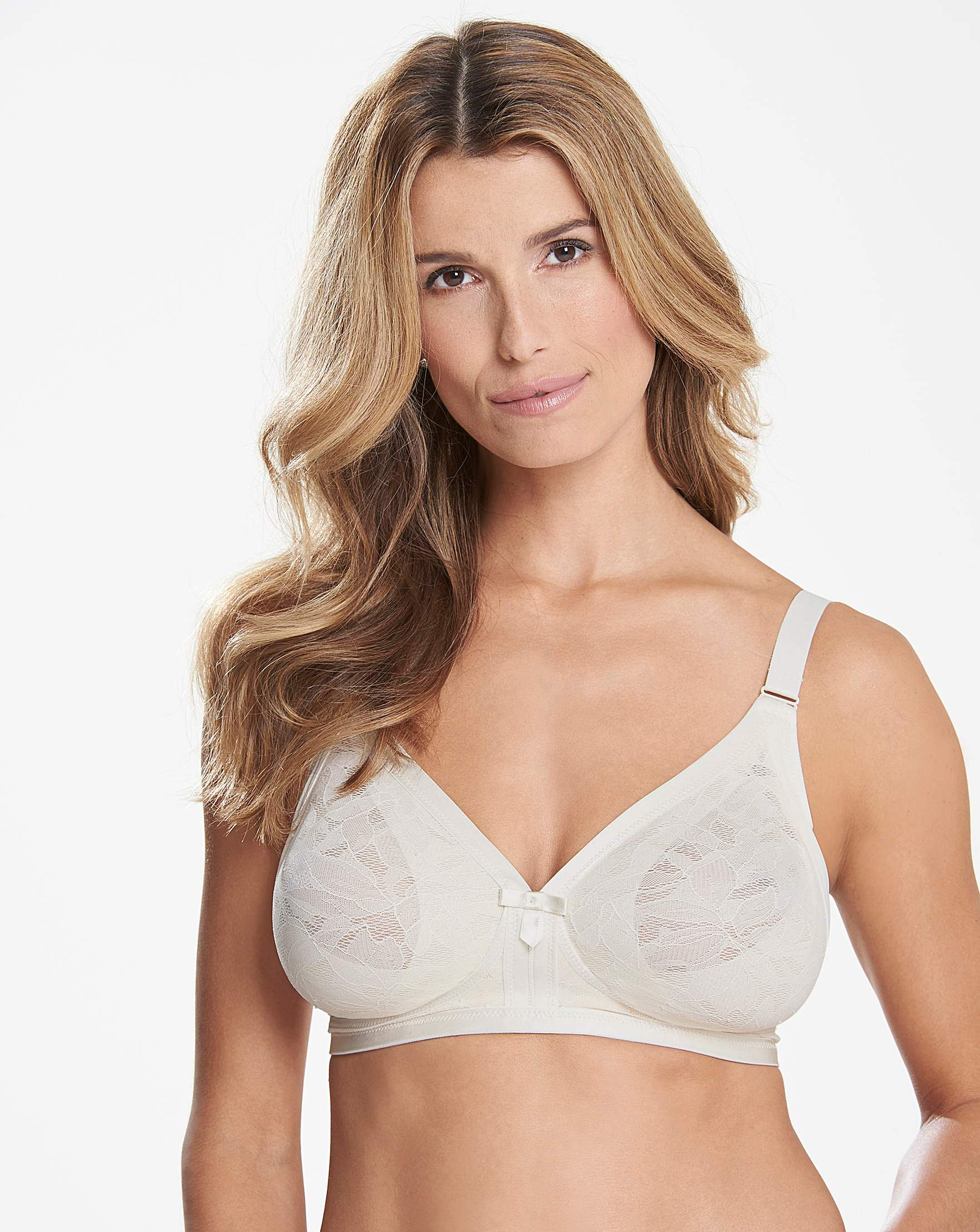 4cf00c702b Playtex Lace Non Wired Blush  White Bra