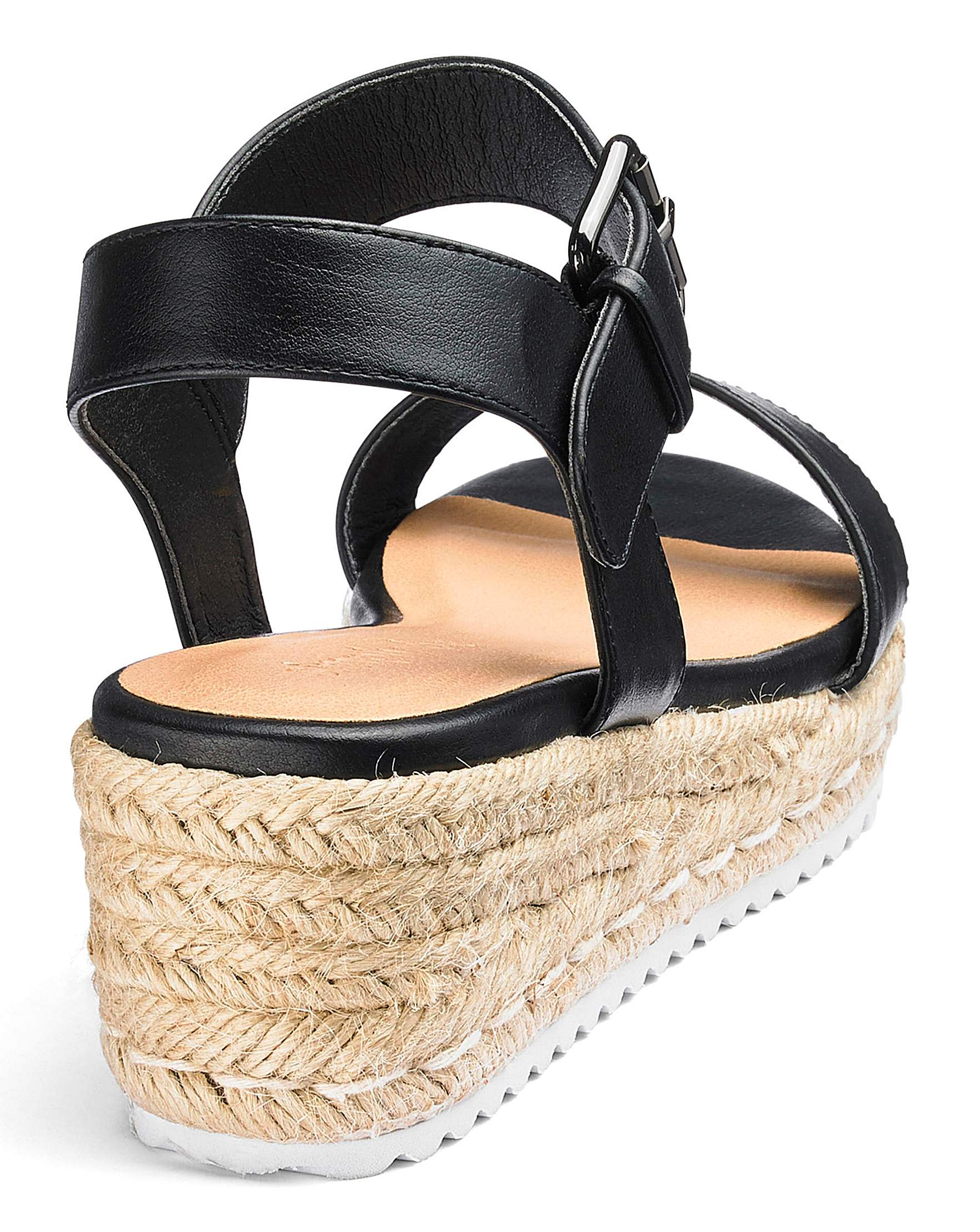 4e7dbdb09433 Indra Espadrille Wedge Wide Fit
