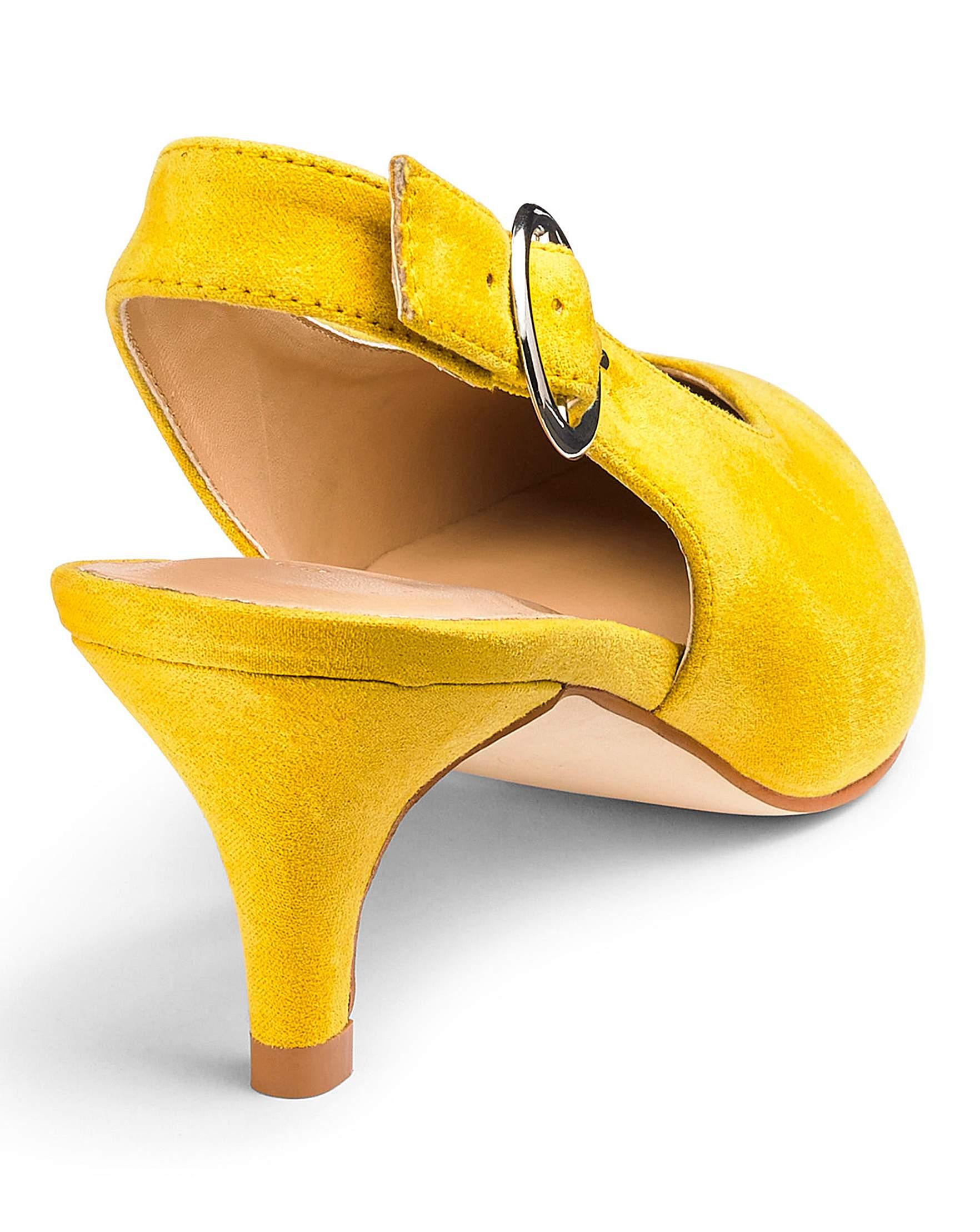 13489bb81d Tilda Slingback Kitten Heel Wide Fit | Simply Be